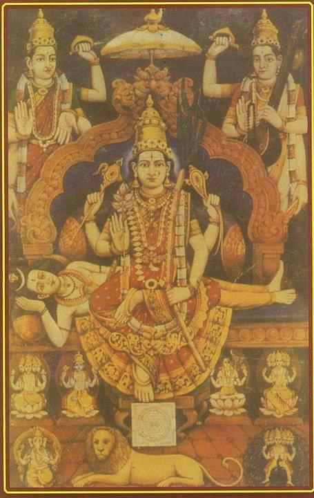Goddess Raja Rajeswary, the Supreme Mother goddess who is even above Lord Shiva himself.