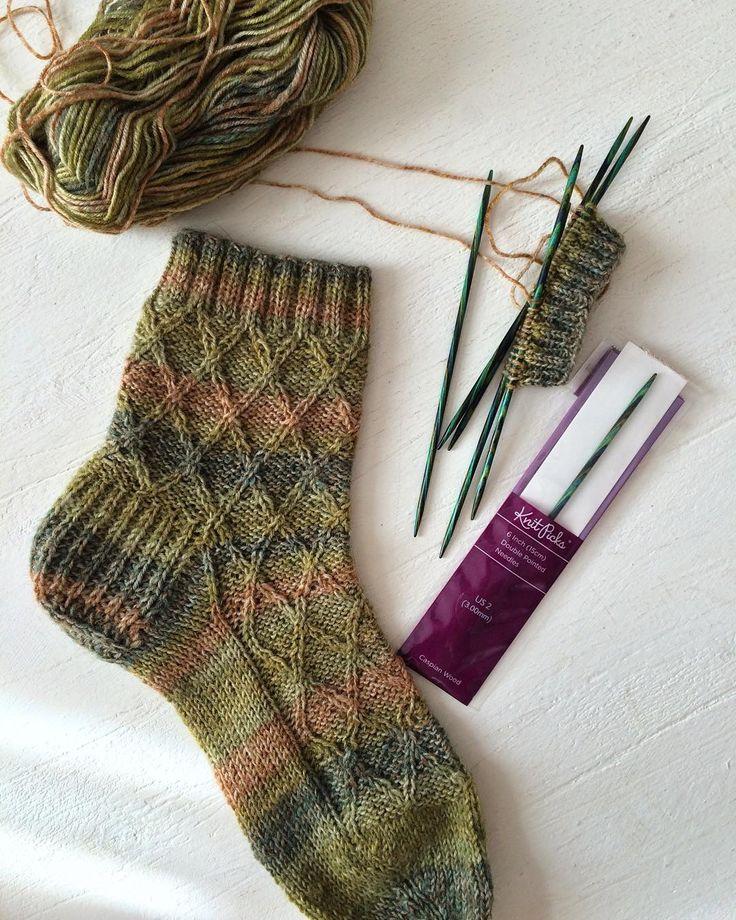 Вязание носка картинки