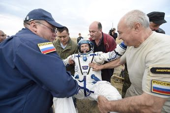 Andreas back on Earth: View 2   European Space Agency ESA astronaut Andreas Mogensen, Soyuz spacecraft commander Gennady Padalka and Kazakh cosmonaut Aidyn Aimbetov landed September 12, 2015 at 00:51 GMT (02:51 CEST) in the steppe of Kazakhstan, marking the end of their missions to the International Space Station. Andreas became Denmark's first astronaut when he left our planet on September 2 on his 10-day iriss mission. The trio undocked from the orbiting complex on September 11 at 21:29…