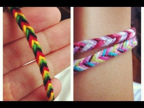 DIY: Fishtail String Bracelet - YouTube  nice video for showing how to weave, but does not show closurer