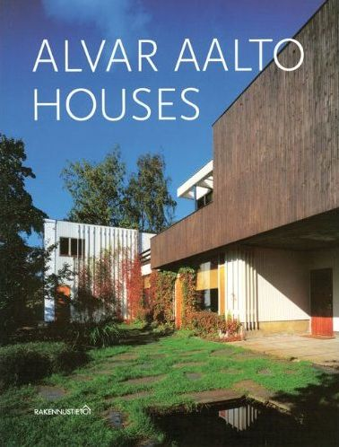 Alvar Aalto Houses bookcover -Alvar Aalto Houses by Jari and Sirkkaliisa Jetsonen, presents 26 innovative single family homes built according to his designs between the 20s and the 60s. These were built in Finland, Estonia and France and are still considered architectural gems today.