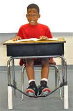 Counselors use Bouncy Bands with students who need to release extra energy and anxiety while they work quietly.