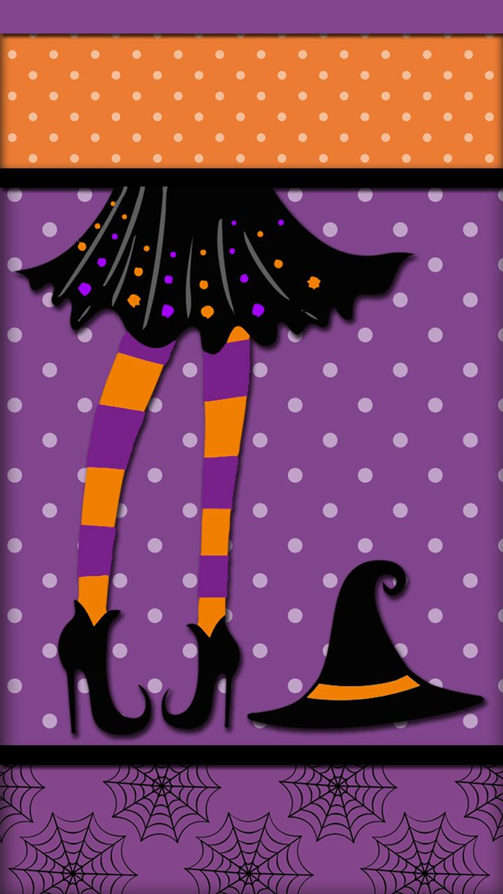 Witches, Pumpkins, and Pink! Fondo de pantalla halloween