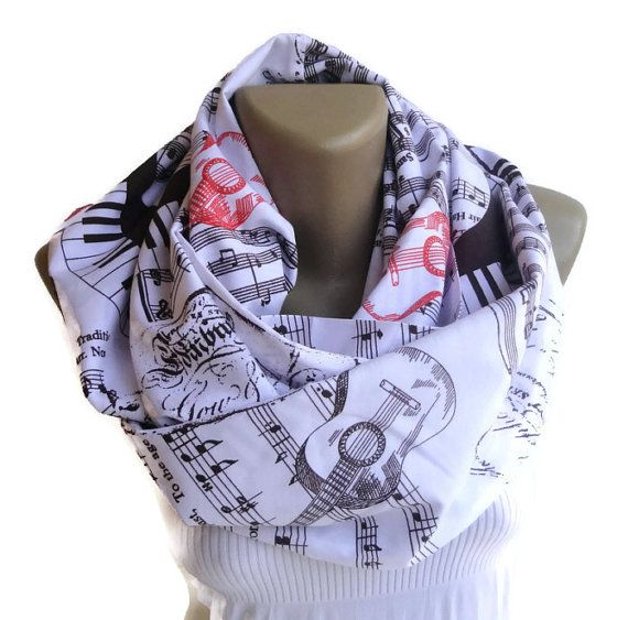 Hey, I found this really awesome Etsy listing at https://www.etsy.com/listing/177716296/music-note-infinity-scarf-music-note