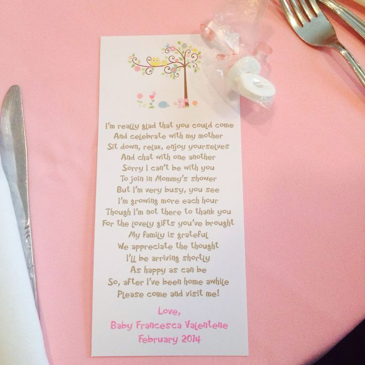 Girl Baby Shower Poems: 36 Best Baby Showers Images On Pinterest