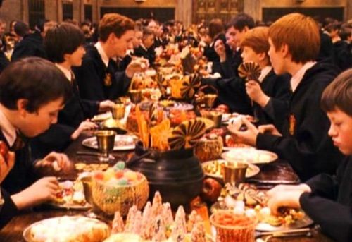 The Cornish pasty is a favourite meal of Ron Weasley and his family too: 'Oh…okay,' said Ron. 'Couldn't remember all the goblin rebels' names, so I invented a few. It's all right,' he said, helping himself to a Cornish pasty, while Mrs Weasley looked stern, 'they're all called stuff like Bodrod the Bearded and Urg the Unclean; it wasn't hard.' - Harry Potter and the Goblet of Fire.