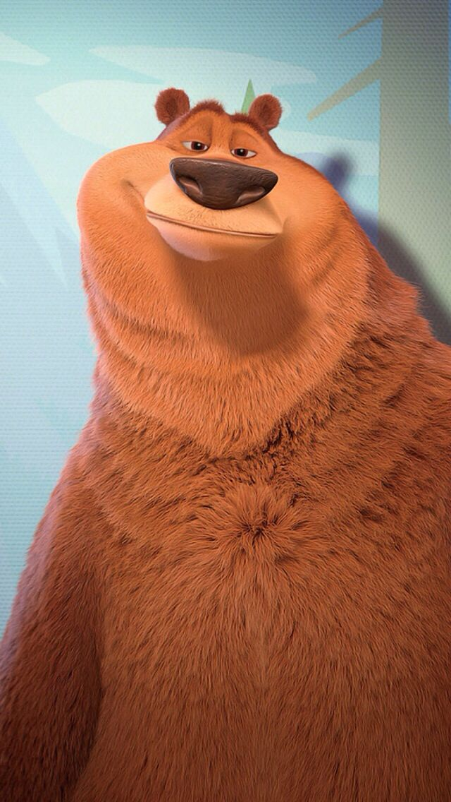 CUTE BEAR, IPHONE WALLPAPER BACKGROUND Character design