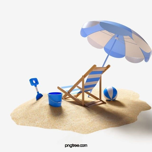 Blue Beach 3d Element Beach Beach Chair Umbrella Png Transparent Clipart Image And Psd File For Free Download In 2020 Blue Beach Graphic Design Posters Beach Painting