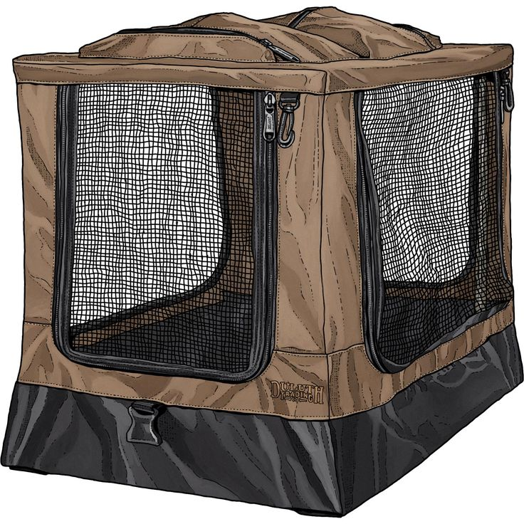 No rattling, uncomfortable wire cage for your canine companion. Instead, let him travel first class in Scout's Folding Dog Crate. It's feather light, comfy and quiet, not to mention durable enough for rambunctious pups.