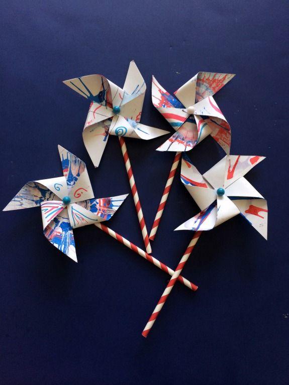 DIY Kids Pinwheels Craft - a fun arts & crafts activity kids can make with spin art *great tutorial