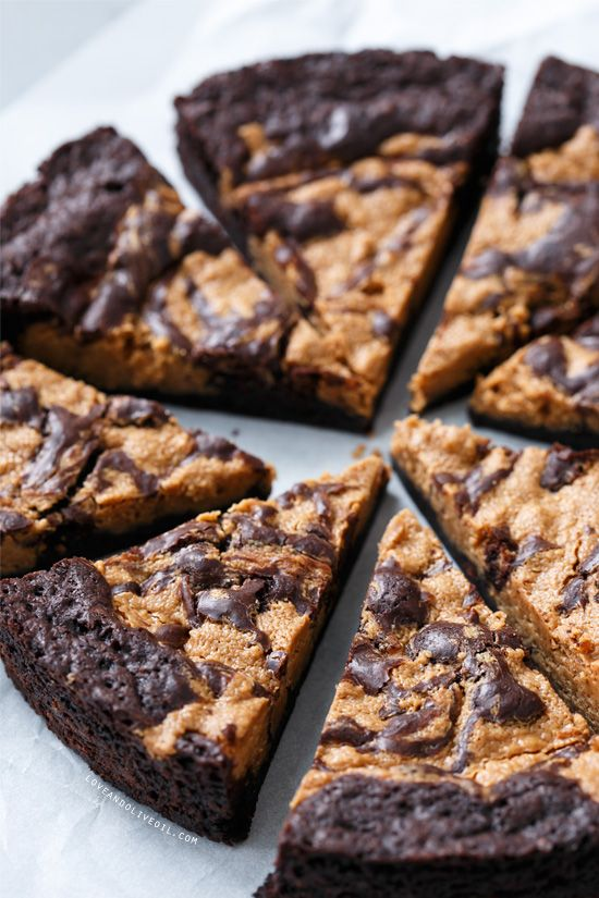 Peanut Butter Swirl Brownies - Proof that a brownie can be so much more than just a plain brown square.