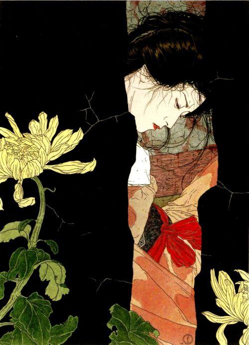 """""""Black will-o-the-wisp"""" - Takato Yamamoto - Japanese Illustration - Heisei Estheticism"""