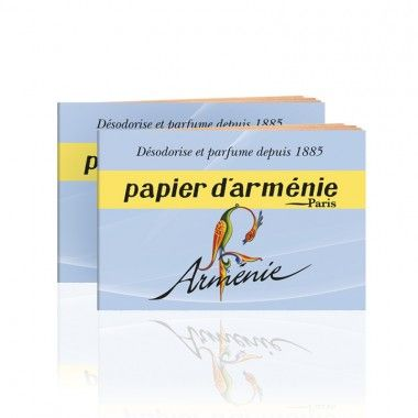 As the paper slowly burns, it releases fragrances of incense, myrrh and vanilla as well as certain woody scents