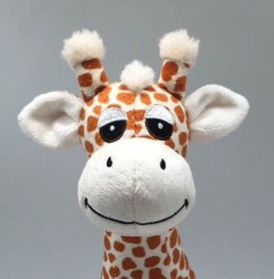 A sneaky peek at Gerry the Giraffe plush toy.