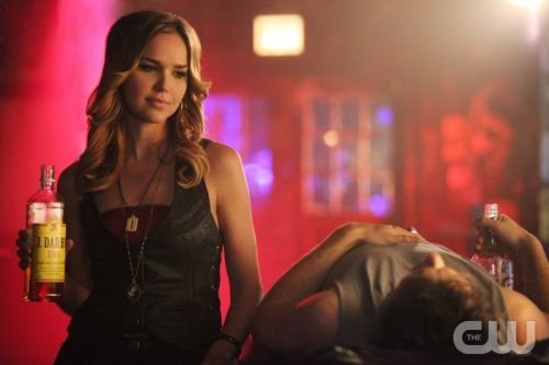 """The Vampire Diaries -- """"Because the Night"""" -- Pictured (L-R): Arielle Kebbel as Lexi and Ian Somerhalder as Damon."""
