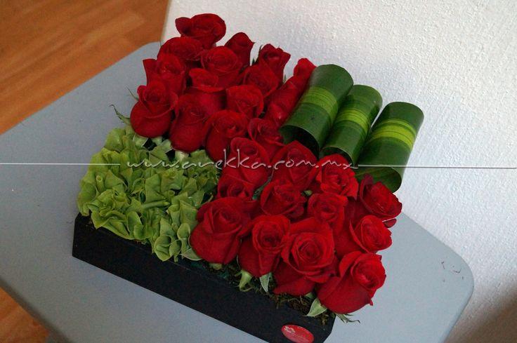 Centro de mesa / Rosas Rojas