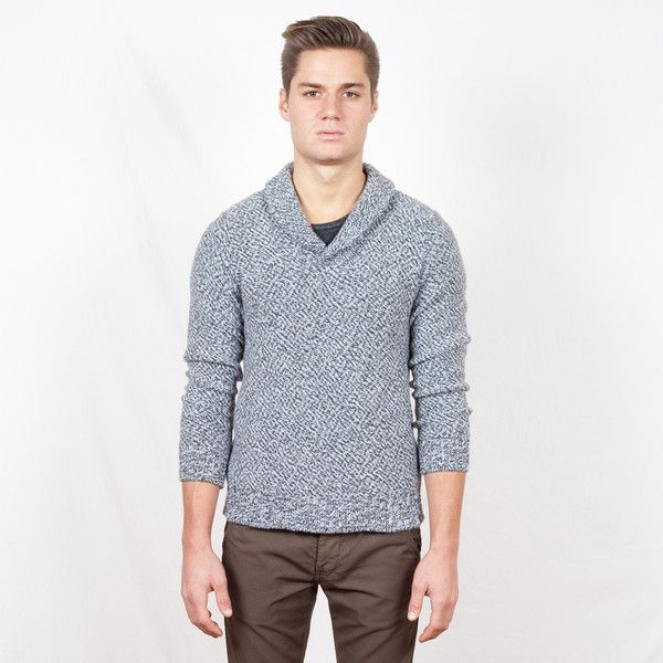 GRANITE (SALT \u0026 PEPPER FLECK) SHAWL COLLAR PULLOVER SWEATER #FALL2013  WWW.THEWESTISDEAD