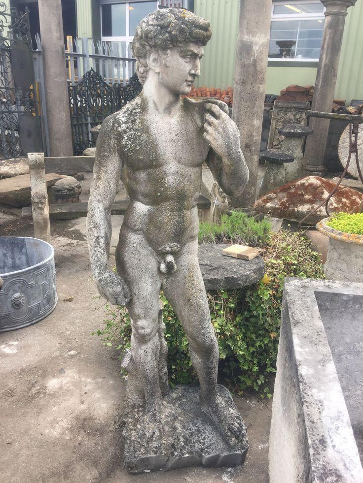 #Garden statuary #lichen