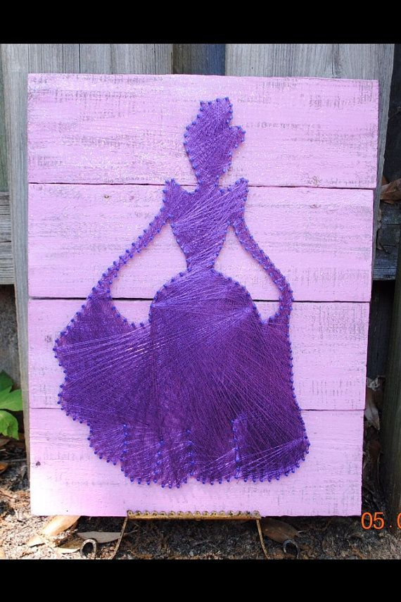 Handcrafted Girls Princess Silhouette Room Decor by BrennanAthan, $79.00