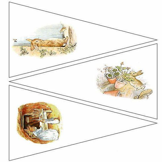 Peter Rabbit imprimable banderoles pages par DreamscapeDigitals