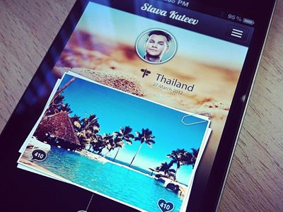 Iphone app interface from Andrianov Oleg via Dribble. It looks Path inspired. Looking forward to the app. Curious to see how it works.