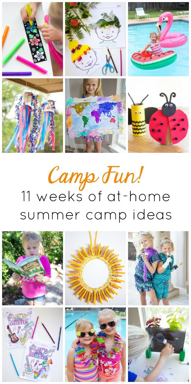 Kids Week: Welcome to Camp Fun! | KSW & Co. Crafts | Pinterest ...