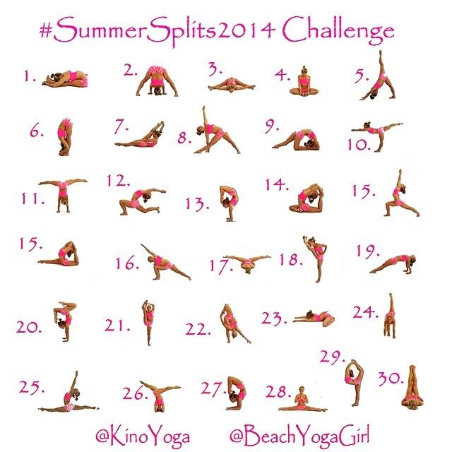 Announcing #SummerSplits2014 Challenge! @Kino MacGregor and @Kerri V are teaming up again to bring you 30 days of postures to help & ins...