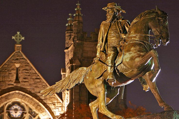 The memorial to General J.E.B. Stuart on Monument Avenue ~ Photograph by Mike Lynaugh