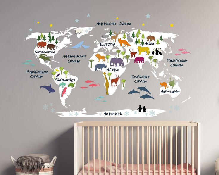 Wandtattoo Weltkarte für Kinder Blaue Weltkarte 110 x 68 cm 64,95 €* Sehr gerne (mit Rakel +1,50 €) Nein Danke (ohne SWAROVSKI® ELEMENTS)