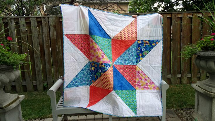 Generational Vintage Star Quilt by Thread Riding Hood in Spring Bloom Fabric / Bella Caronia / Windham Fabrics
