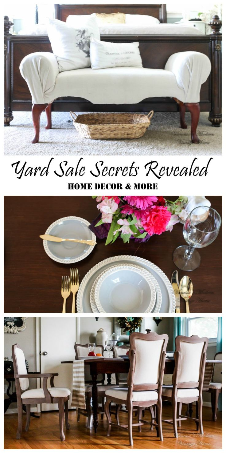 My Yard Sale Secrets Revealed (How I decorate my house from yard sale items) - Vanessa's Modern Vintage Home
