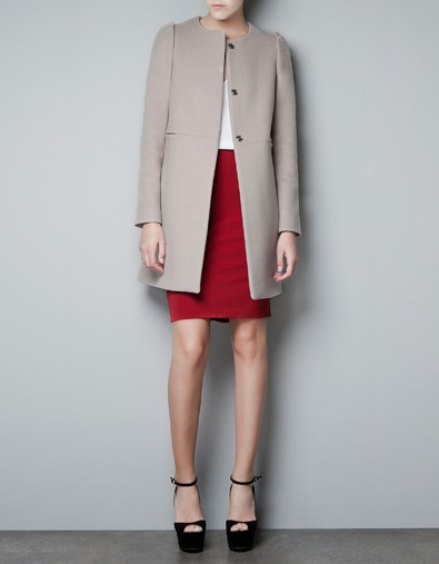COAT WITH GATHERED SLEEVES - Coats - Woman - ZARA United Kingdom £99