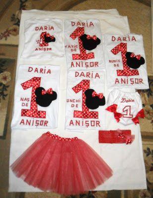 Atelier Cristina P.: Set aniversar: tricouri, body, diaper cover personalizate/brodate