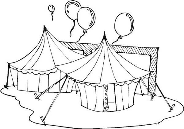 Circus And Carnival Tents And Balloons Coloring Pages Carnival Tent Coloring Pages Balloons