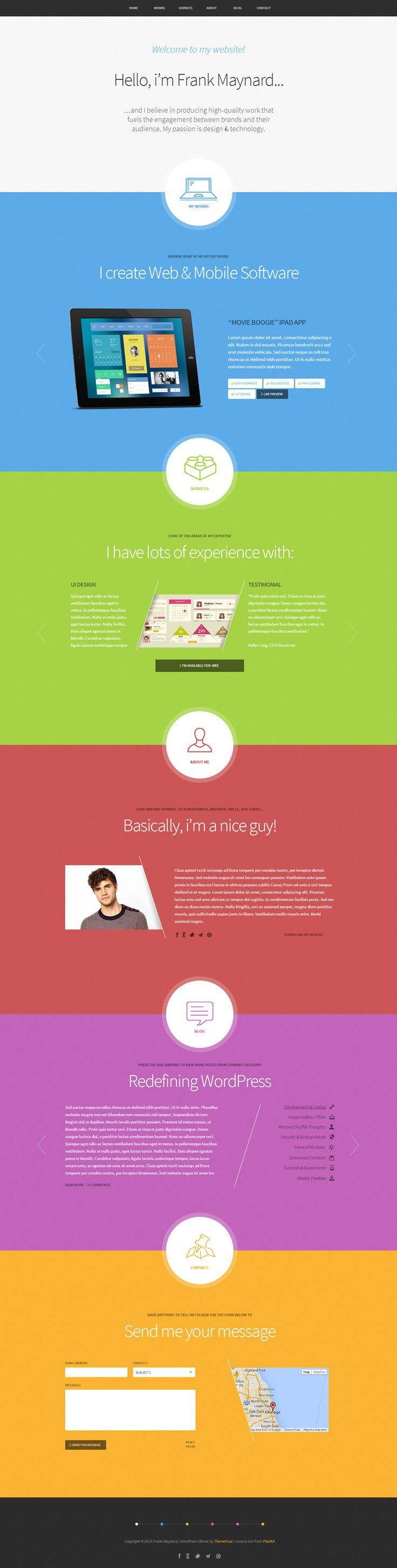 color scheme, simple, layout, one page