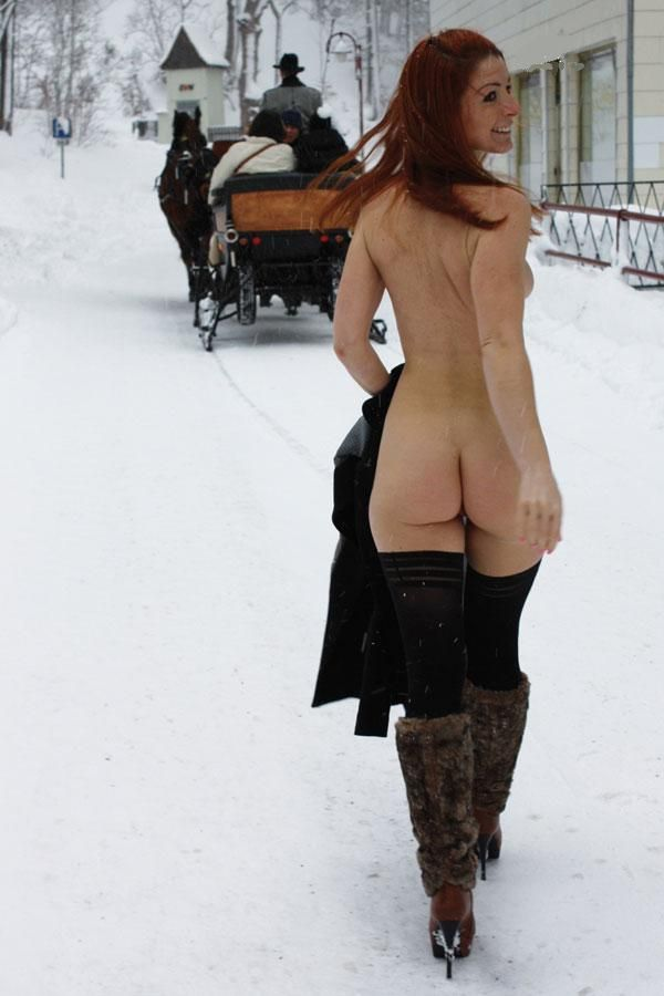 Big coat from nude strip winter slutty