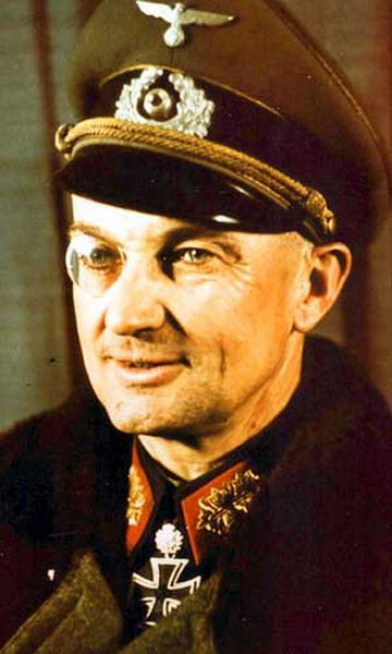Field Marshal Walter Model, most distinguished tactician of the defensive battle in the German WW2  army. He became a Hitler favorite in 1942. He committed suicide on April 24, 1945 in order to avoid capture and prosecution as war criminal.