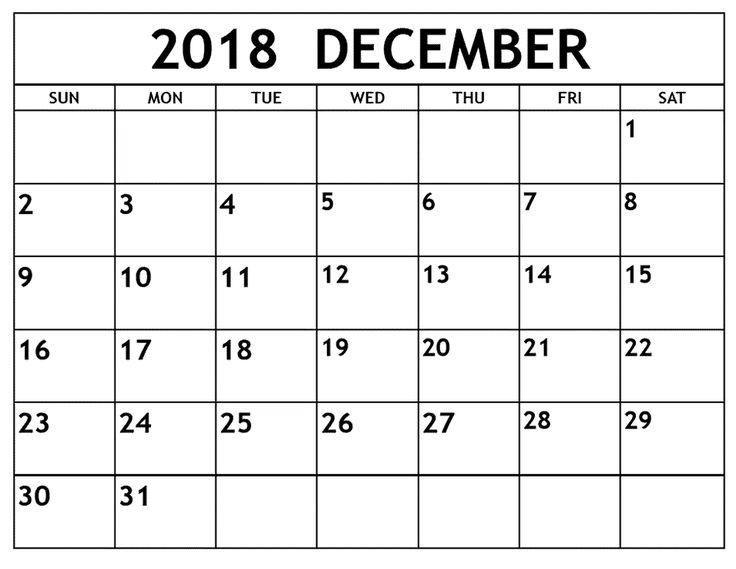 get printable december 2018 calendar in word blank template notes  excel sheets  ms word  doc
