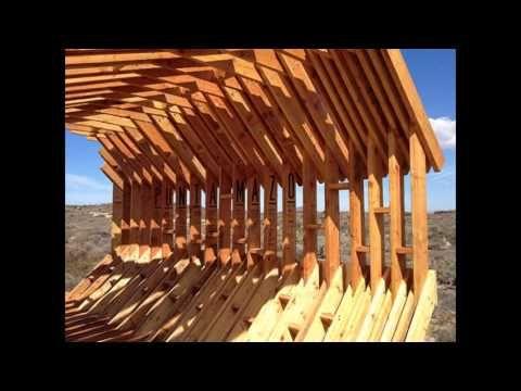 Деревянный пляжный навес, - YouTube