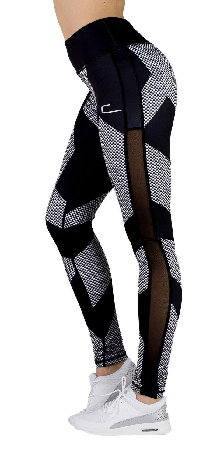 Carbon Design Leggings - Black