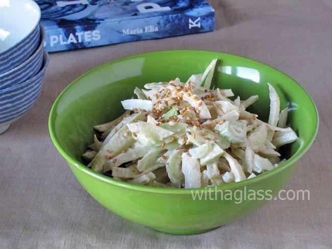 salad persimmon salad with sesame vinaigrette sesame noodle salad with ...