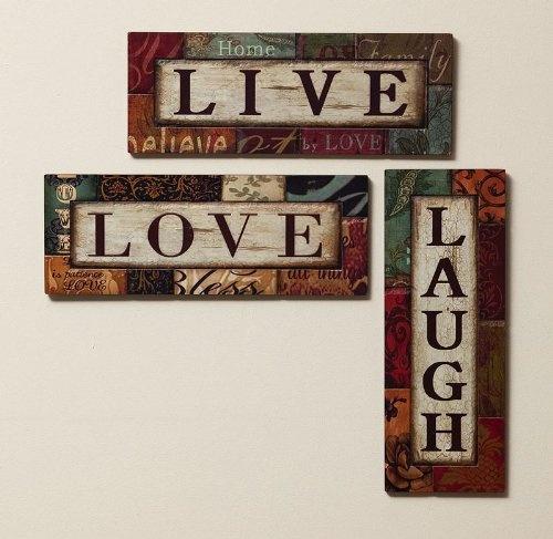 live laugh love wall decor homes decor lighting etc pinterest. Black Bedroom Furniture Sets. Home Design Ideas