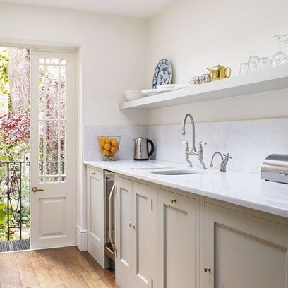 Discover kitchen design ideas on HOUSE - design, food and travel by House & Garden, including Sally Ann Lasson's Plain English galley kitchen in her small London house.