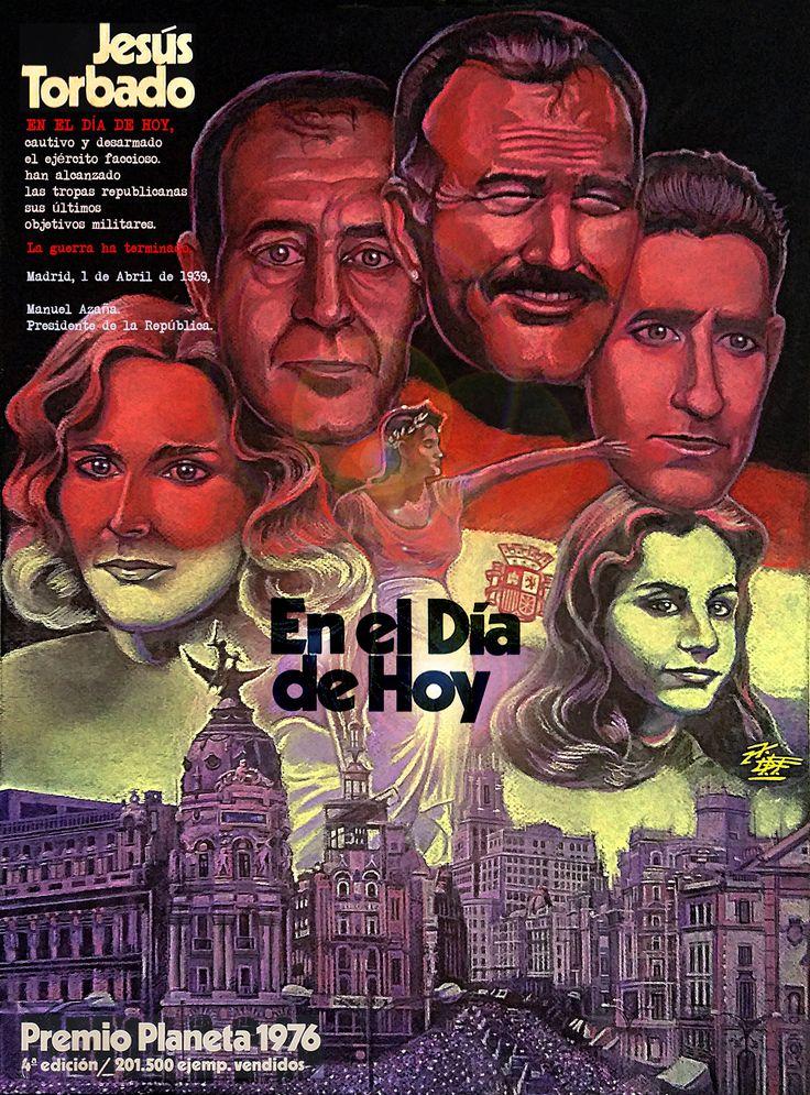 EN EL DÍA DE HOY de Jesús Torbado, Premio Planeta 1976, Ilustración de David Fernández Falagán