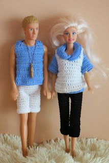 Barbie and Ken. Crochet.