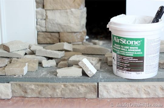 AirStone Fireplace Makeover on a DIY Budget | Diy ...