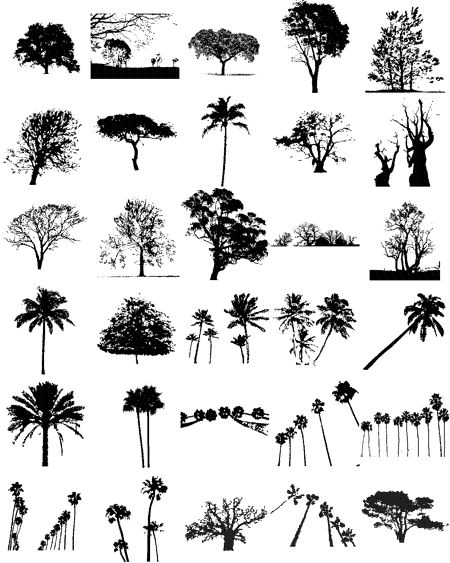 Free Tree Silhouette Vectors