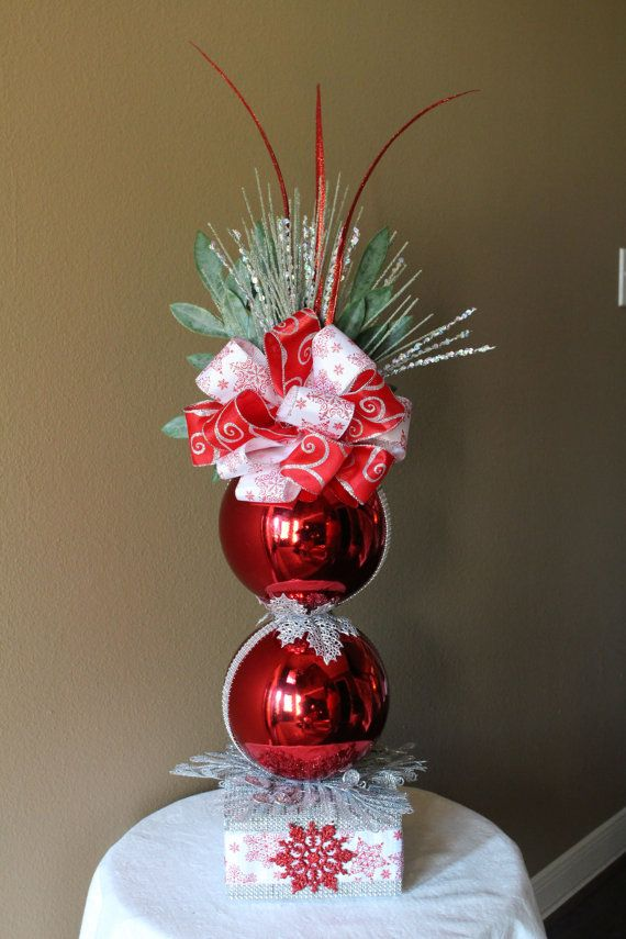 Stacked 8 Ornament Arrangement by BlackPineDesign on Etsy, $120.00