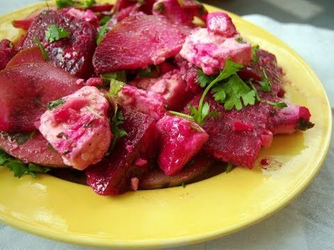 Chukandar ka Salad recipe in hindi subtitle - http://2lazy4cook.com/chukandar-ka-salad-recipe-in-hindi-subtitle/