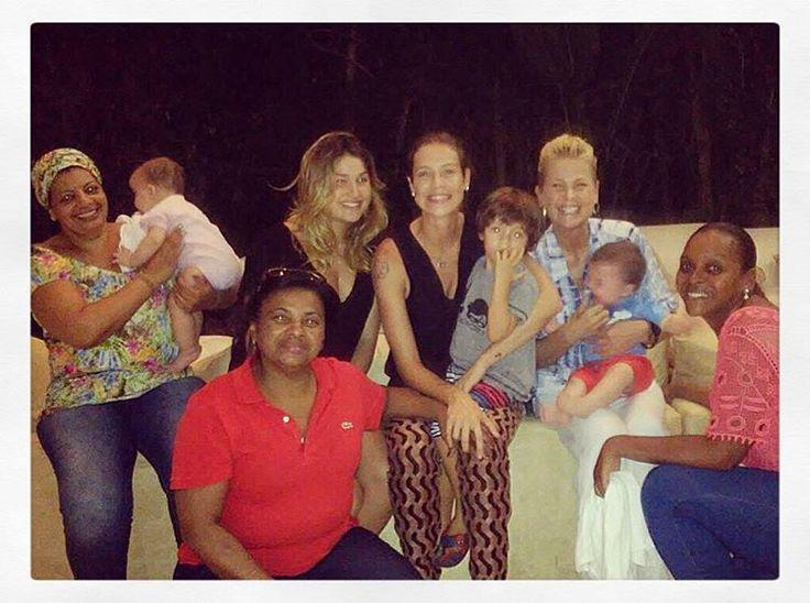 Luana Piovani leva filhos para ver Xuxa e Sasha: 'Fui com bonde'